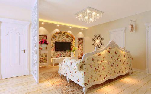 田园风格二居室客厅吧台装修效果图