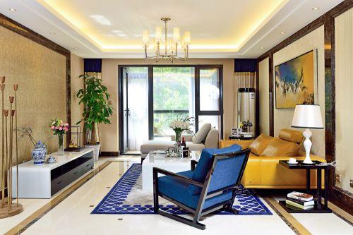 田园风格三居室客厅电视柜装修效果图大全