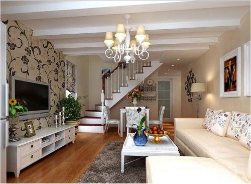 田园风格二居室客厅隔断装修效果图大全