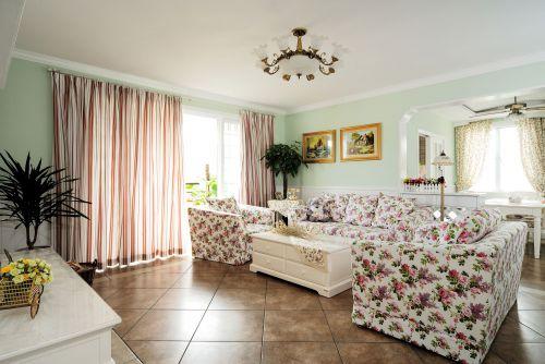 田园风格四居室客厅沙发装修效果图