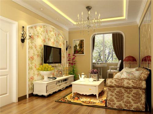 田园风格三居室客厅吧台装修效果图大全