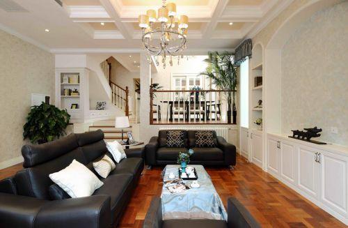 田园风格四居室客厅吊顶装修效果图大全