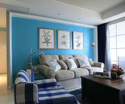 田园风格三居室客厅茶几装修效果图欣赏
