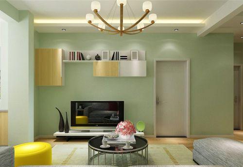 田园风格二居室客厅背景墙装修效果图大全