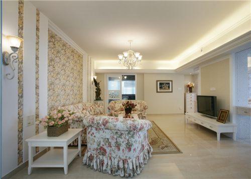 田园风格二居室客厅沙发装修效果图