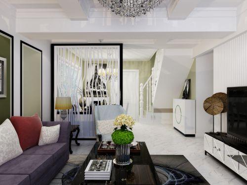 田园风格四居室客厅沙发装修效果图欣赏
