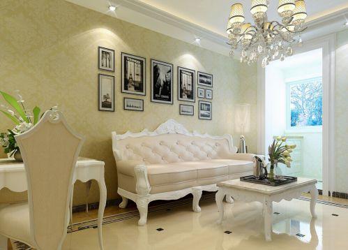田园风格二居室客厅茶几装修图片