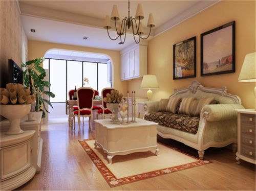 田园风格二居室客厅电视柜装修效果图大全
