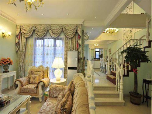 田园风格三居室客厅茶几装修效果图大全