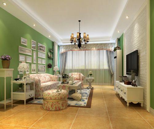 田园风格二居室客厅沙发装修效果图大全