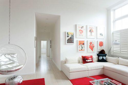 160㎡田园风格五居室温馨客厅装修效果图