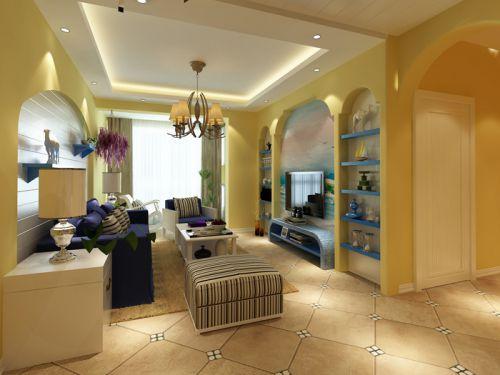 地中海风格二居室客厅装修效果图大全