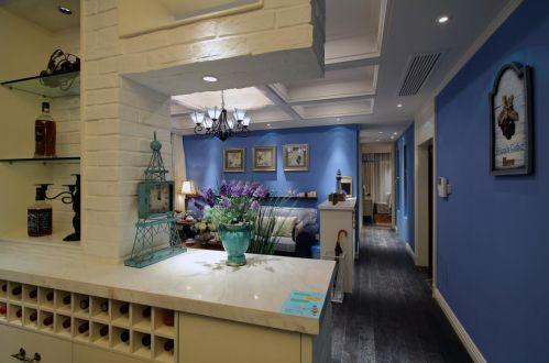 地中海风格四居室客厅隔断装修效果图大全