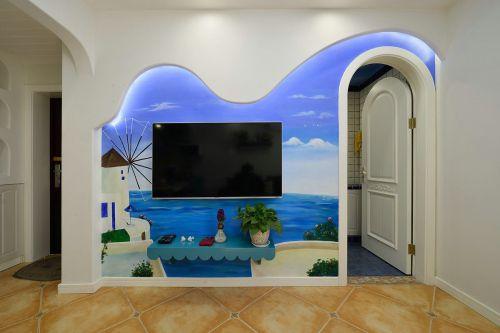 地中海式装修风格电视背景墙