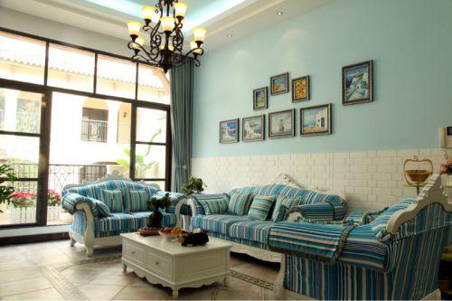 地中海风格二居室客厅装修效果图欣赏
