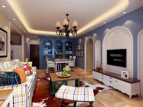 地中海风格二居室客厅电视柜装修图片