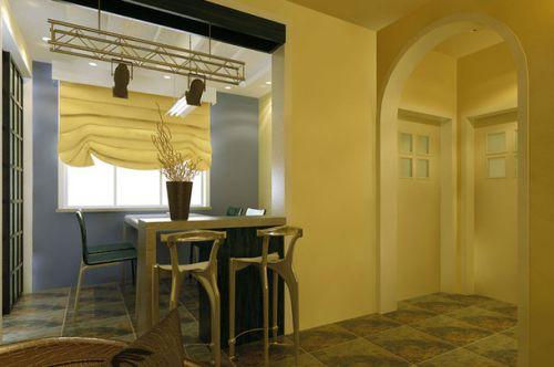 地中海风格120m2三居室吧台装修效果图