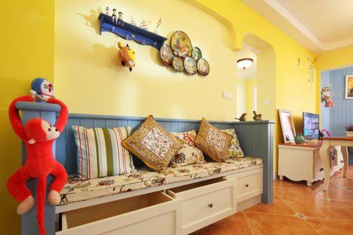异域地中海风格暖黄客厅装修图