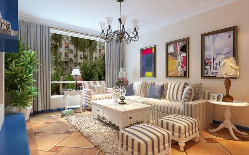 迷人浪漫风情地中海风格客厅装修效果图