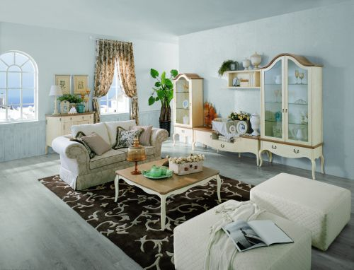 浪漫干净地中海风格客厅效果图
