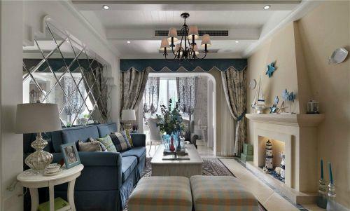 地中海风格四居室客厅灯具装修图片