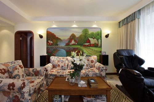 地中海风格二居室客厅沙发装修效果图大全