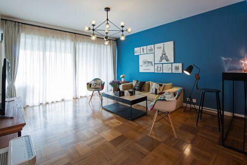 地中海风格四居室客厅吊顶装修效果图