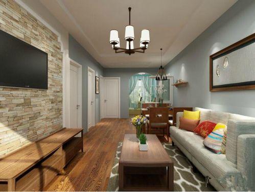地中海风格二居室客厅飘窗装修图片