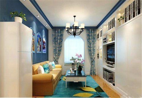 地中海风格一居室客厅沙发装修效果图大全