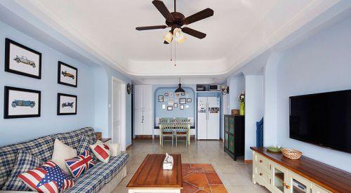 地中海风格二居室客厅背景墙装修效果图大全