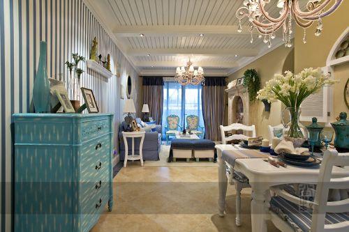 地中海风格二居室客厅茶几装修效果图