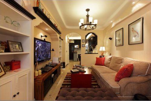 地中海风格二居室客厅储物柜装修效果图大全