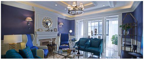 地中海风格四居室客厅吧台装修效果图欣赏
