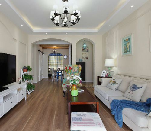 地中海风格三居室客厅沙发装修效果图欣赏