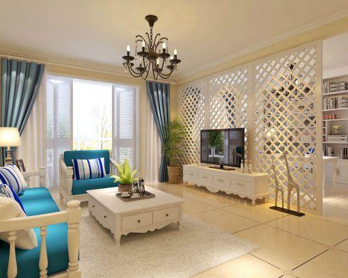地中海风格别墅客厅装修效果图欣赏