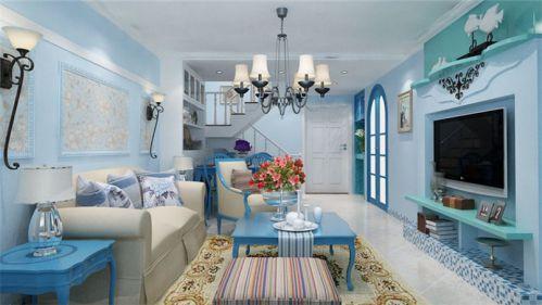 地中海风格二居室客厅隔断装修效果图大全