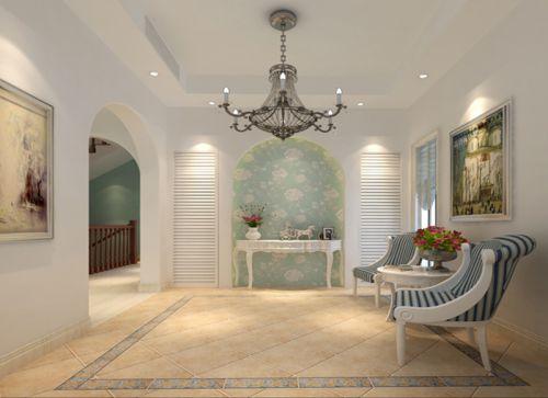 地中海风格四居室客厅影视墙装修效果图大全