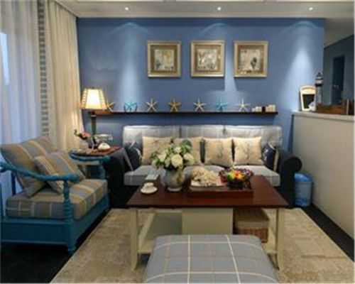 地中海风格二居室客厅隔断装修图片