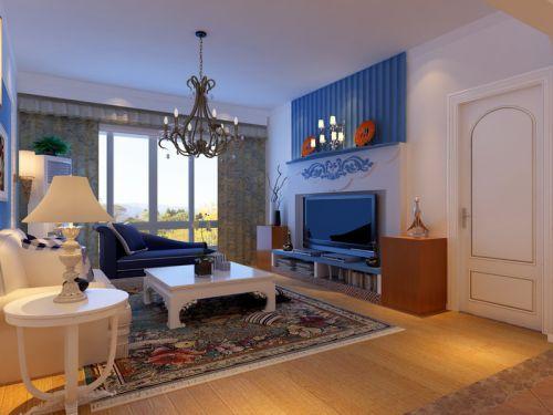 地中海风格三居室客厅吊顶装修图片