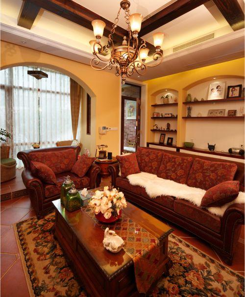 地中海风格三居室客厅吧台装修效果图欣赏
