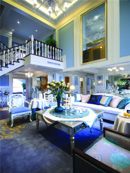 地中海风格四居室客厅吧台装修效果图