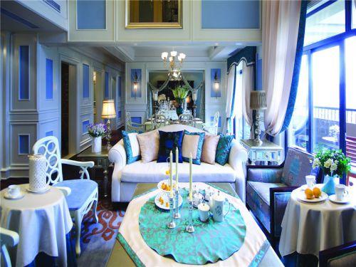 地中海风格四居室客厅隔断装修效果图