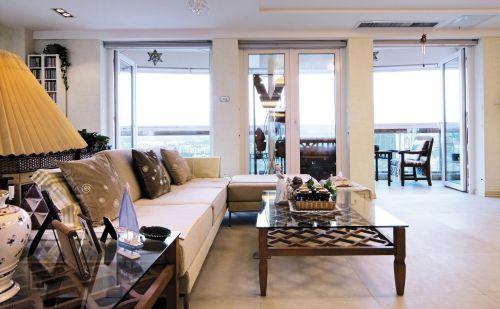地中海风格四居室客厅飘窗装修效果图欣赏
