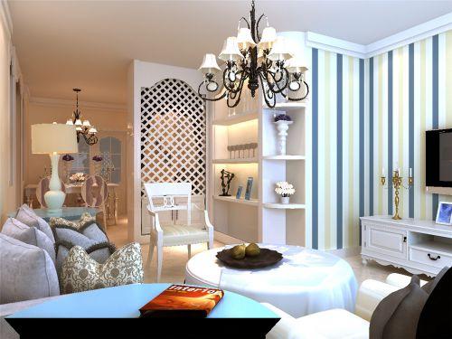 地中海风格三居室客厅隔断装修效果图大全