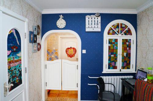 地中海风格一居室客厅照片墙装修效果图欣赏