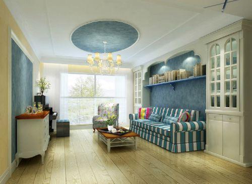 地中海风格四居室客厅飘窗装修图片