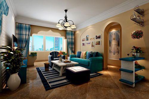 地中海风格三居室客厅飘窗装修图片