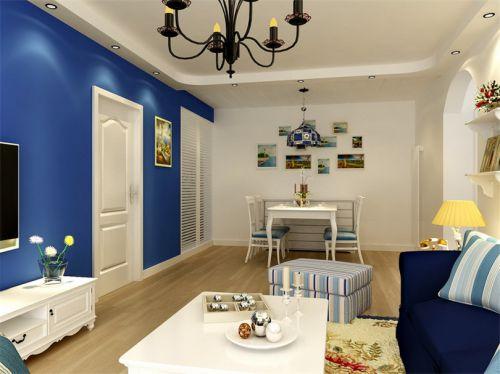地中海风格二居室客厅壁纸装修效果图