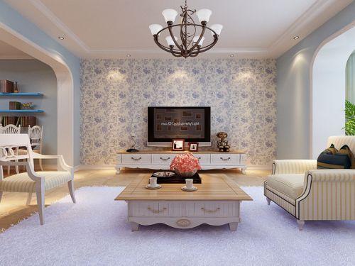 地中海风格二居室客厅壁纸装修效果图欣赏