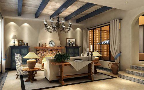地中海风格五居室客厅装修图片欣赏
